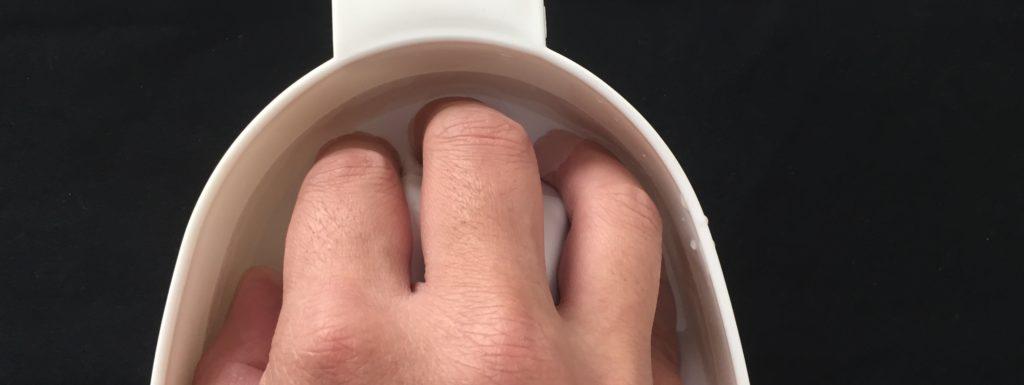 指をふやかす