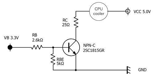 CPUファン制御の回路図