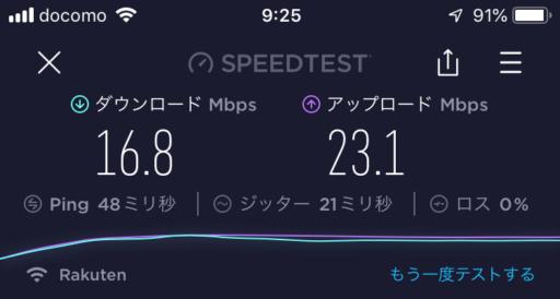 札幌駅周辺9:25の速度