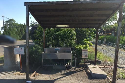 三重湖公園キャンプ場の炊事棟(洗い場)、灰捨て場