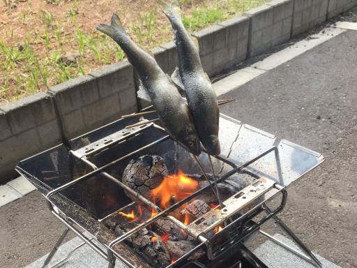 鮎の串焼き