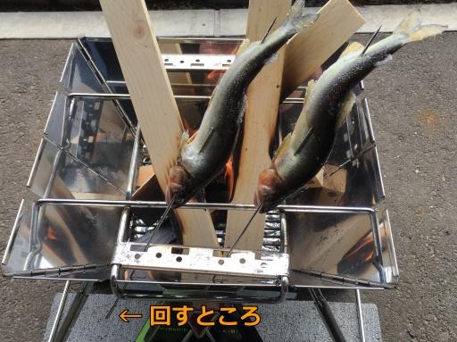 鮎の串焼き(失敗)