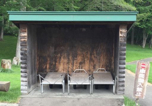 北広島市自然の森キャンプ場の運搬カート