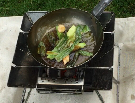 くず野菜炒めの完了
