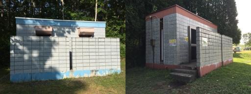 ときわキャンプ場のトイレ(テントサイト)