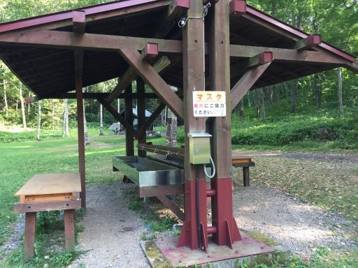 ときわキャンプ場の炊事棟(洗い場)